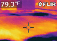 Roofing investigation using FLIR